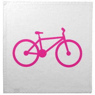Bicicleta do rosa quente; bicicleta guardanapos