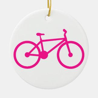 Bicicleta do rosa quente; bicicleta enfeites para arvore de natal
