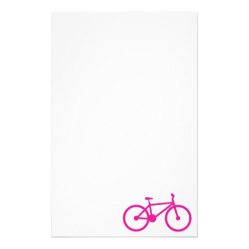 Bicicleta do rosa quente; bicicleta papéis personalizados