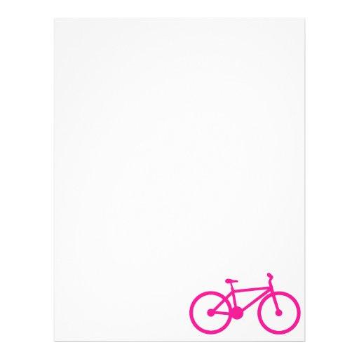 Bicicleta do rosa quente; bicicleta papeis de carta personalizados