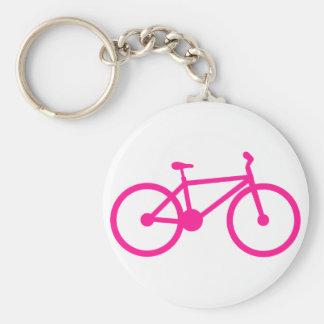 Bicicleta do rosa quente; bicicleta chaveiro