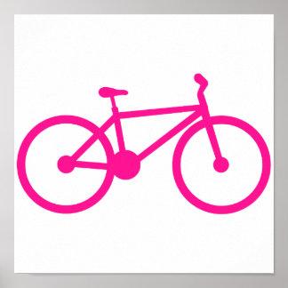 Bicicleta do rosa quente; bicicleta pôsteres