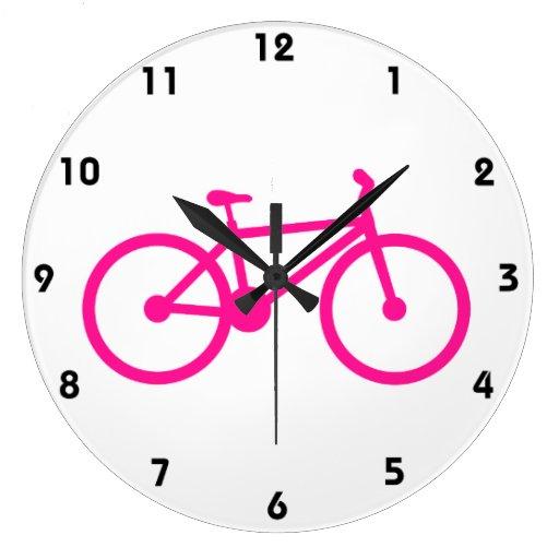 Bicicleta do rosa quente; bicicleta relógios para pendurar