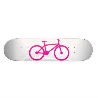Bicicleta do rosa quente; bicicleta shape de skate 18,7cm