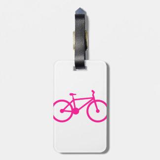 Bicicleta do rosa quente; bicicleta tags para bagagens