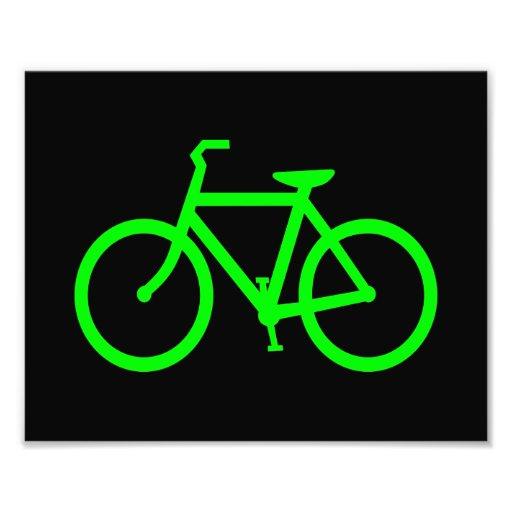 Bicicleta do verde limão foto arte