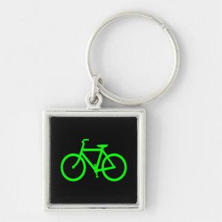 Bicicleta do verde limão chaveiros