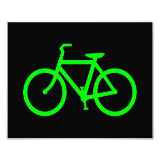 Bicicleta do verde limão impressão de foto