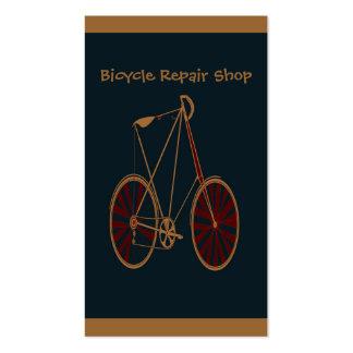 Bicicleta do vermelho azul da velha escola da bici modelos cartão de visita