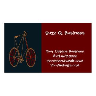 Bicicleta do vermelho azul da velha escola da bici modelos cartões de visita