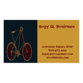 Bicicleta do vermelho azul da velha escola da bici cartões de visitas