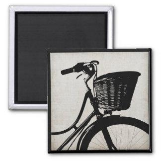 Bicicleta do vintage ímã quadrado