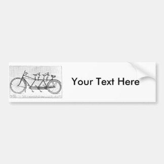 Bicicleta do vintage para três bicicletas do adesivo para carro