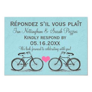 Bicicleta do vintage que Wedding cartões de RSVP Convites Personalizados