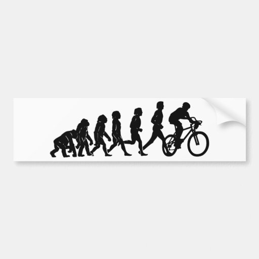 Armario Antiguo Restaurado ~ Bicicleta e evoluç u00e3o adesivo para carro Zazzle