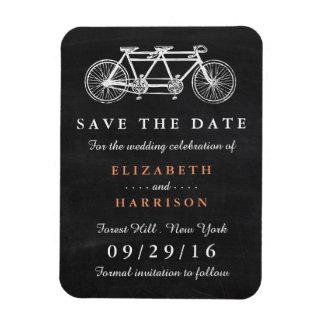 Bicicleta em tandem em economias do casamento do foto com ímã retangular
