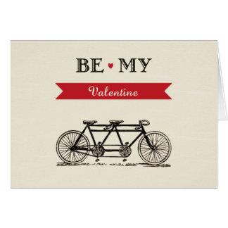 Bicicleta em tandem - seja meu cartão dos namorado