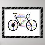 Bicicleta, esporte da bicicleta, palavras inspirad posteres