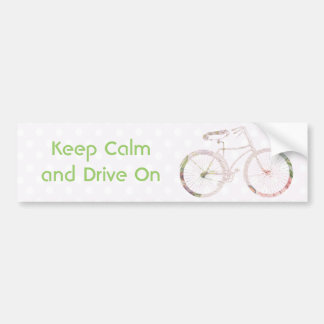 Bicicleta floral feminino adesivo para carro