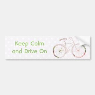 Bicicleta floral feminino adesivo