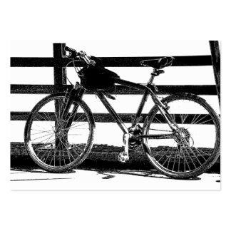 Bicicleta/imagem fotográfica do preto & a branca modelo cartoes de visita