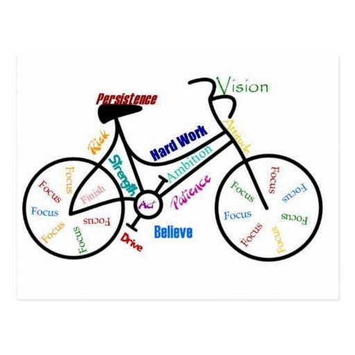 Bicicleta inspirador, bicicleta, ciclismo, esporte cartões postais