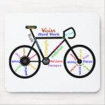 Bicicleta inspirador, ciclo, Biking, palavras do e Mousepads