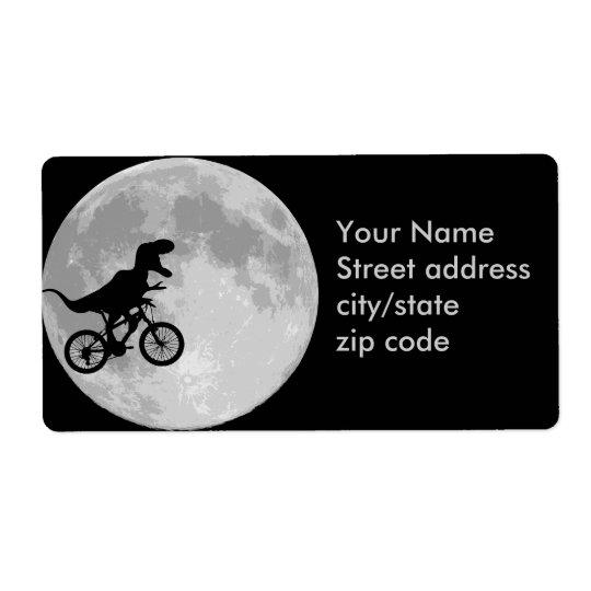 Bicicleta & lua do dinossauro etiqueta de frete