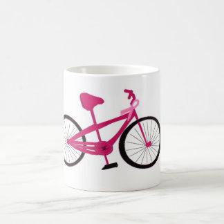 Bicicleta para uma cura - bicicleta cor-de-rosa canecas