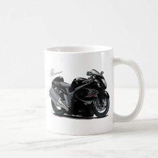 Bicicleta preta de Hayabusa Canecas