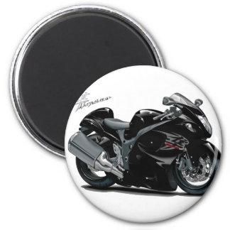 Bicicleta preta de Hayabusa Imãs De Refrigerador