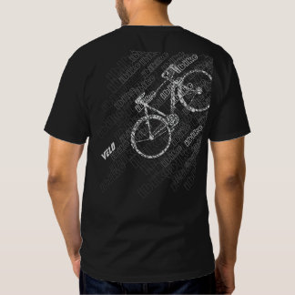 bicicleta preto e branco t-shirt