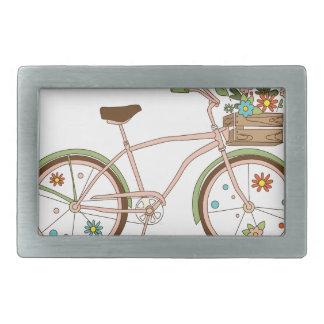Bicicleta retro com o karzinkoy para flores