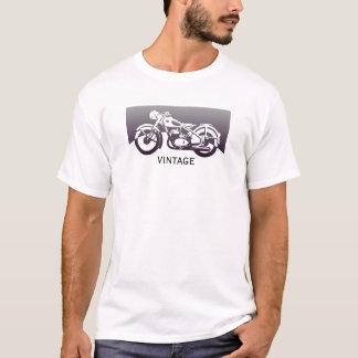 Bicicleta retro legal da motocicleta dos anos 50 camiseta