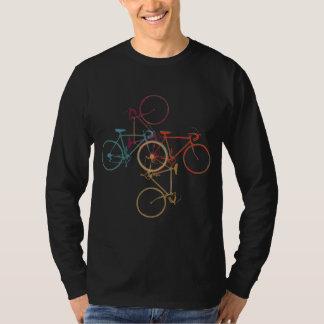 bicicleta. roupa do estilo da bicicleta camiseta