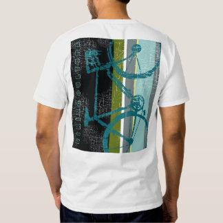 bicicleta-T legal com listras verticais Camiseta