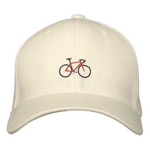 Bicicleta vermelha da estrada boné