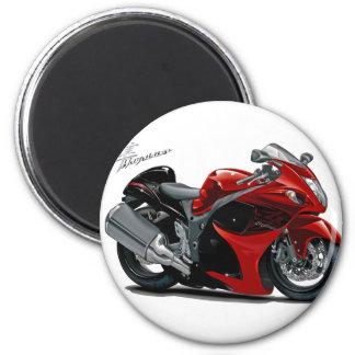 Bicicleta Vermelho-Preta de Hayabusa Imãs