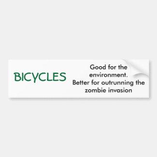BICICLETAS, boas para o ambiente. Melhore para o… Adesivo Para Carro