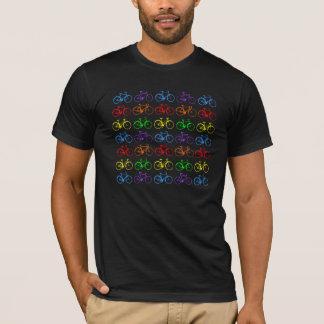 Bicicletas do arco-íris camisetas