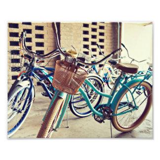 Bicicletas do vintage impressão de foto