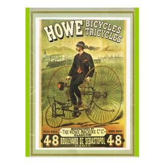 Bicicletas escocesas na venda em Paris Cartões Postais