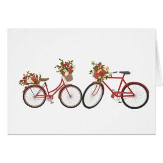 Bicicletas vermelhas, cartão bonito do dia dos