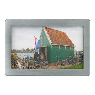 Bicicletas, vila holandesa do moinho de vento,