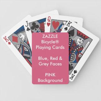 Bicycle® feito sob encomenda azul, cartões de jogo baralhos para pôquer