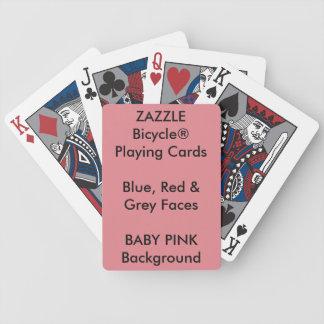 Bicycle® feito sob encomenda azul, cartões de jogo baraloho de pôquer