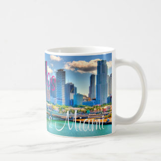 Bienvenidos uma caneca de café de Miami