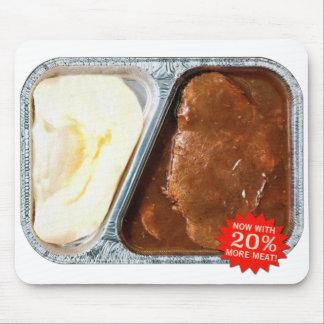 Bife de Salisbúria do comensal de tevê do vintage Mousepad