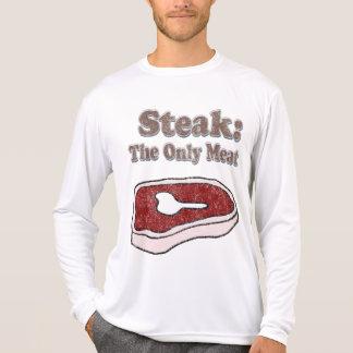 Bife do vintage a única camisa da carne