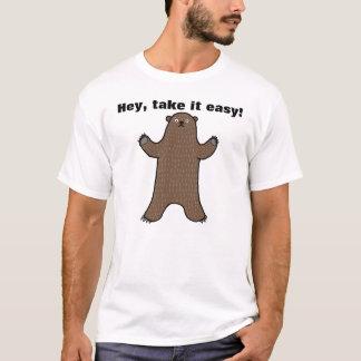 Big Bear Hey toma-lhe o t-shirt gráfico engraçado Camiseta